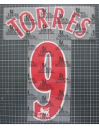 2006-2007 Liverpool x TORRES Nameset (Red / League Use)