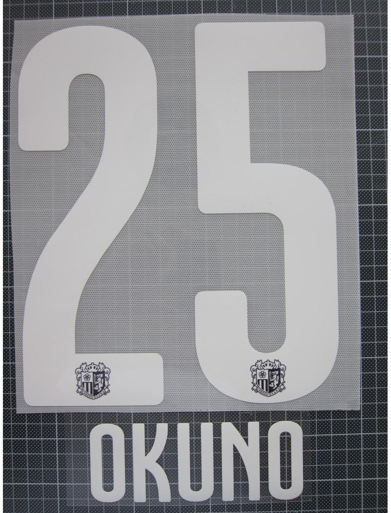 2019-2020 J-League Cerezo OSAKA / セレッソ大阪 x OKUNO / 奥埜 博亮 Nameset