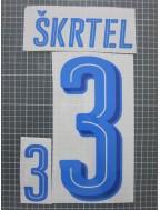 2016 Slovakia x SKRTEL Nameset (Away Use)
