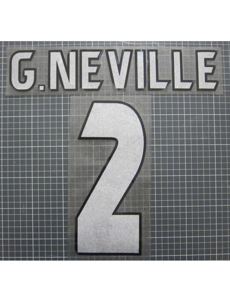 1998-1999 Manchester United x G.NEVILLE Nameset