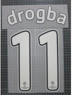 2008-2009 Chelsea x DROGBA Nameset