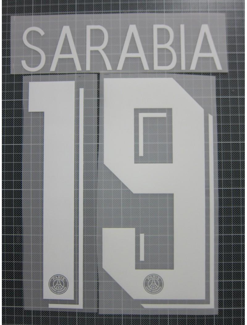 2019-2020 PSG x SARABIA Nameset (Cup Use)