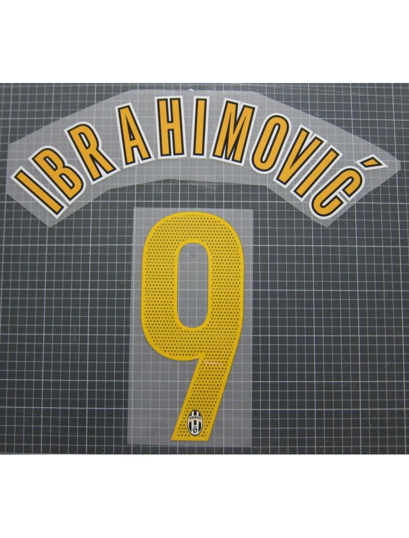 NAMESET FLOCAGE OFFICIEL IBRAHIMOVIC JUVENTUS THIRD 2005//2006