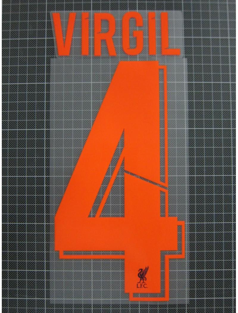 2018-2019 Liverpool x VIRGIL Nameset (Orange)