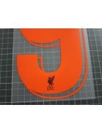 2018-2019 Liverpool x FIRMINO Nameset (Orange)