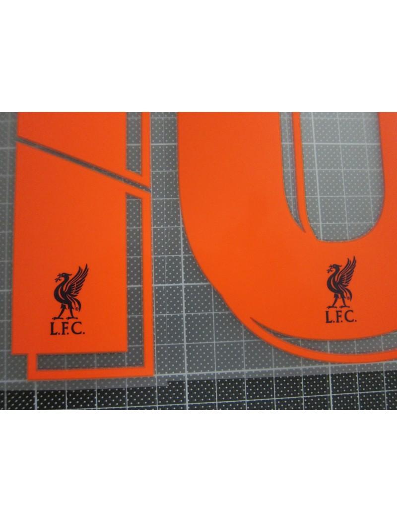 2018-2019 Liverpool x MANE Nameset (Orange)
