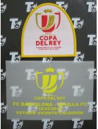 2016 Spanish Copa del Rey / King's Cup x Barcelona Match Details + Badge Set
