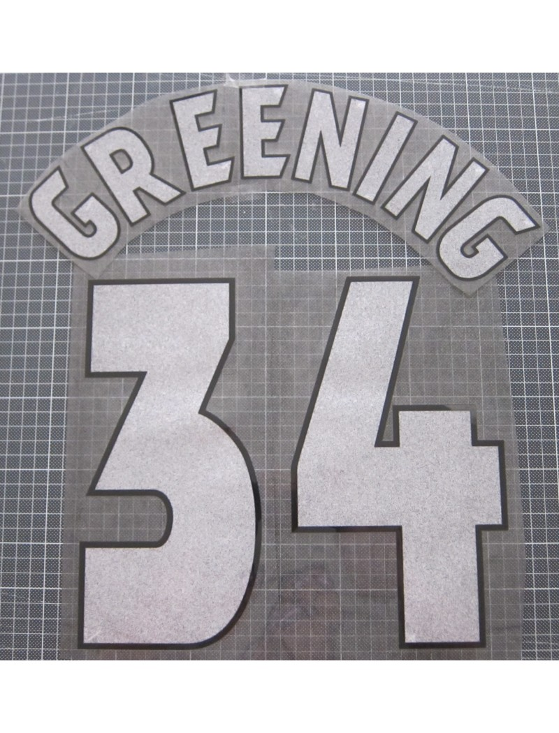 1998-1999 Manchester United x GREENING Nameset (Cup Use)