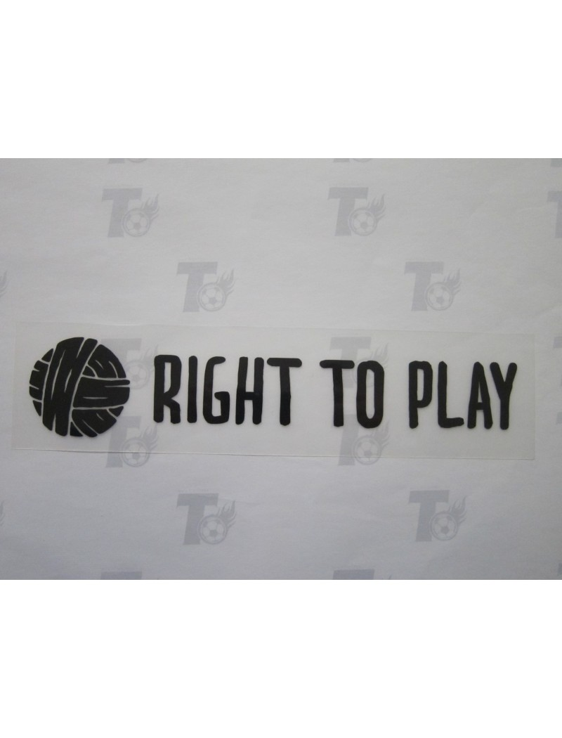 2019~ Liverpool Sponsor Badge - RIGHT TO PLAY (Black)
