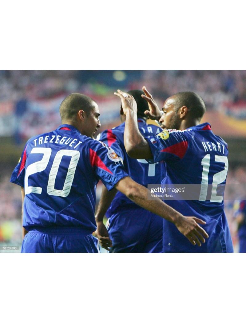 2004 France x TREZEGUET Nameset