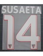 2014-2016 Athletic Club Bilbao x SUSAETA Nameset (White)