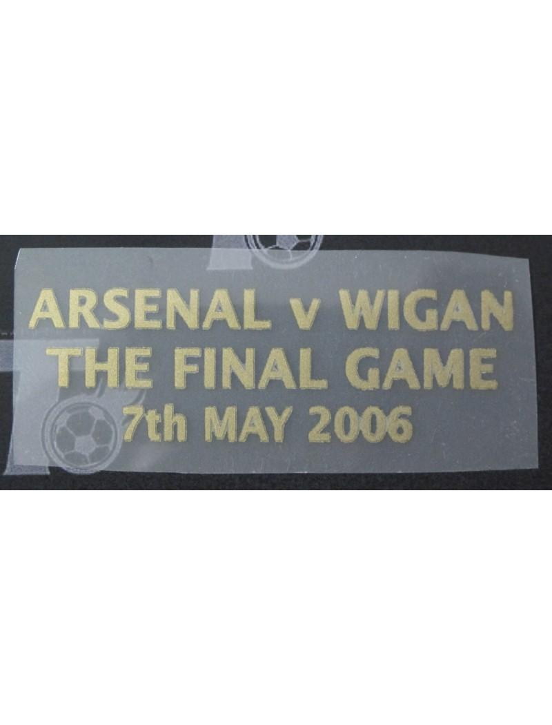 2006 Arsenal x Farewell Highbury Match Detail