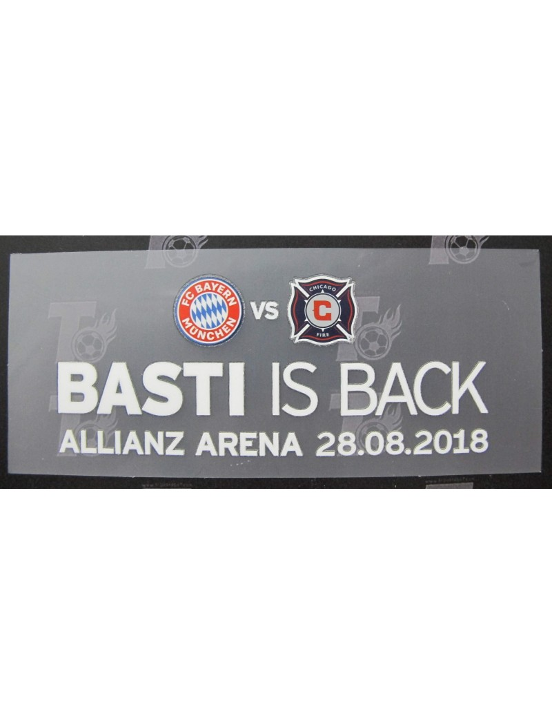 2018 BASTI IS BACK - Bayern Munchen x Chicago Fire  Match Detail